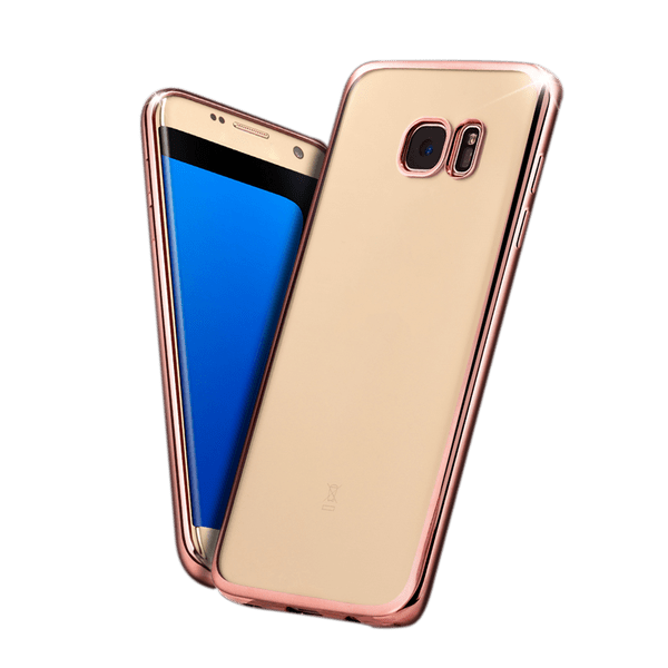 d097cfc710f Protector Mobo Design Collection Electroplating Rose Gold Sam Galaxy S7 Edge  (32X)